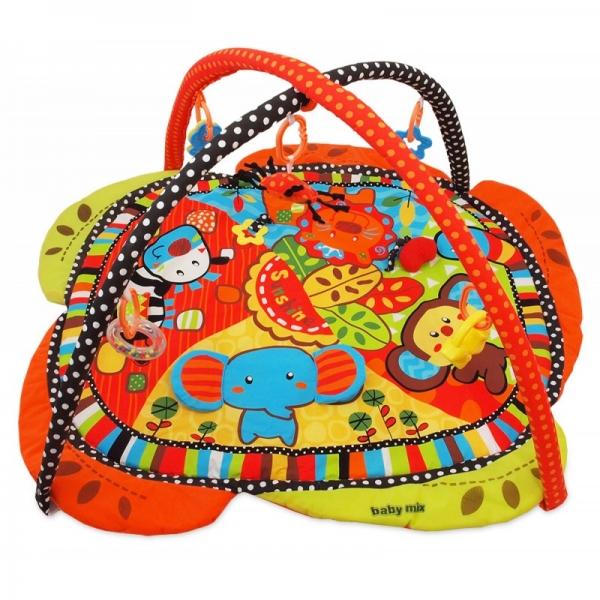 Hrací deka Baby Mix v krabičke - Zvieratka SAFARI