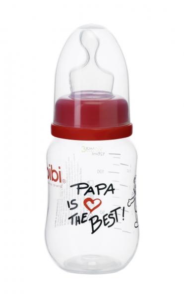 Bibi Dojčenská fľaša Papa is the best 125ml
