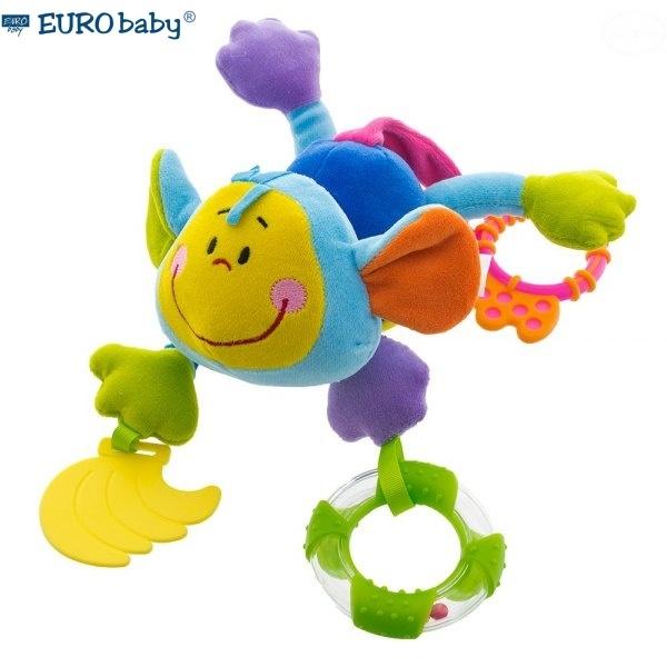 Závesná edukačná hračka s hrkálkou a hryzátkom