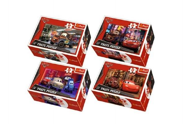 Teddies Minipuzzle Cars 2 / Disney 54dílků 4 druhy