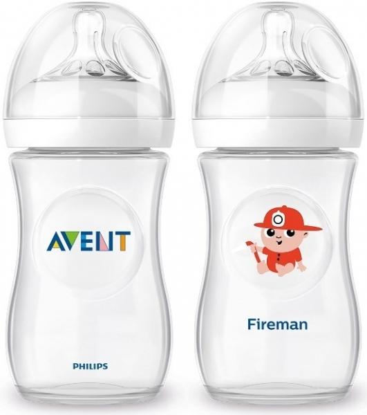 Fľaštička Avent Natural Fireman + Natural 260 ml