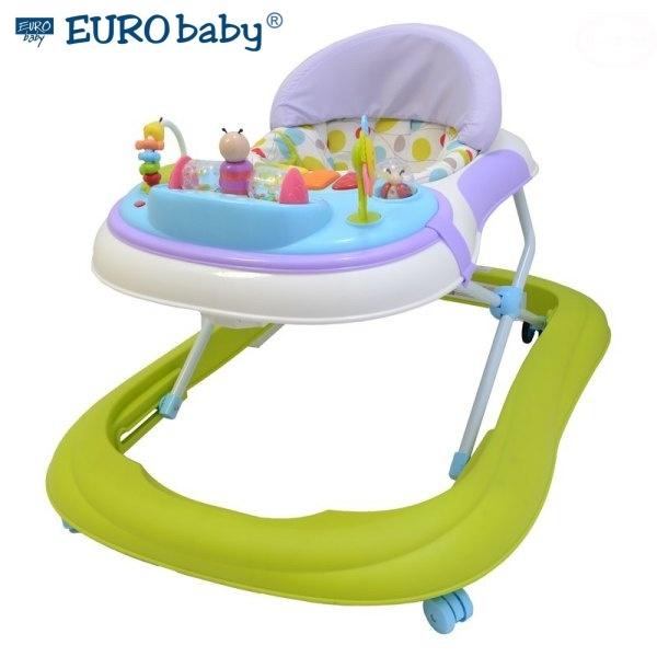 Euro Baby Multifunkčné chodítko - zelené / fialové