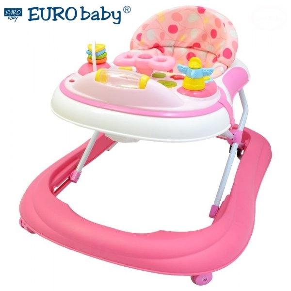 Euro Baby Multifunkčné chodítko - ružové