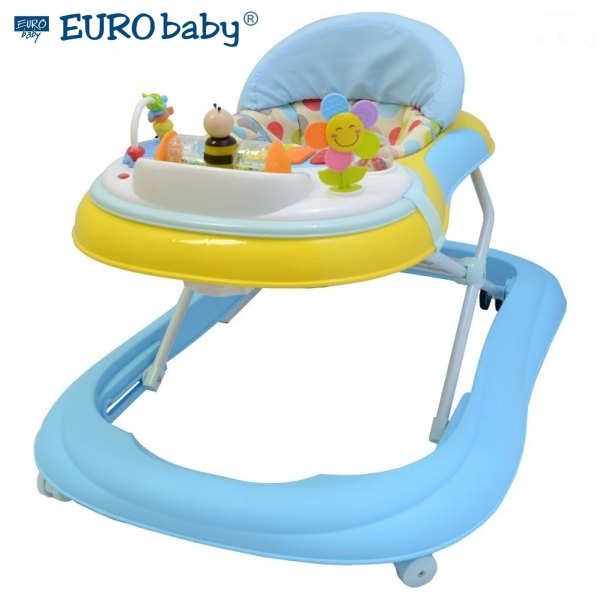 Euro Baby Multifunkčné chodítko - modré/žlté, Ce19