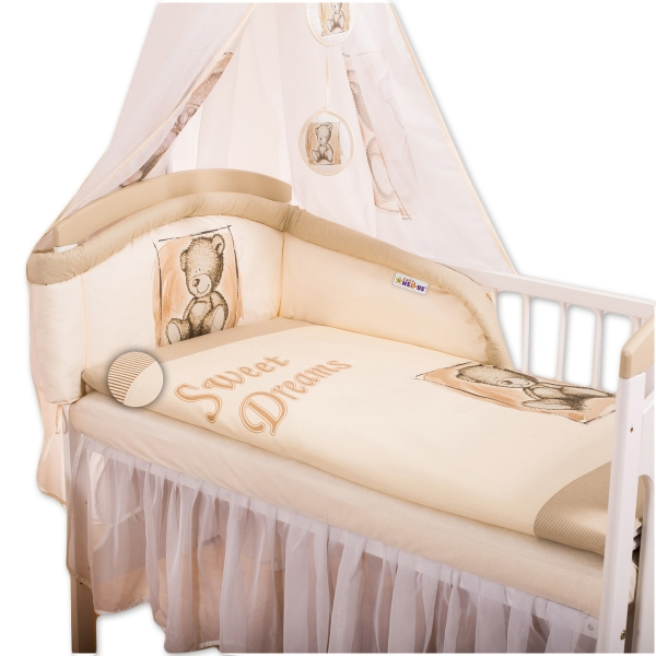 Baby Nellys Obliečky Sweet Dreams by Teddy - pieskový, 120x90 cm