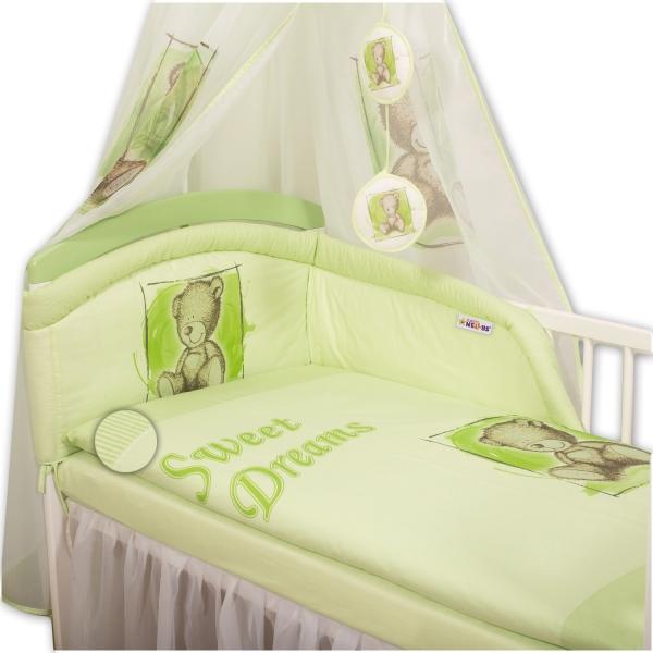 Baby Nellys Obliečky Sweet Dreams by Teddy - zelený