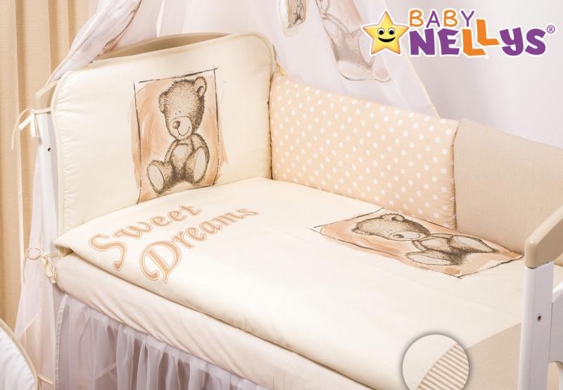 Baby Nellys Mantinel 360 cm s obliečkami Sweet Dreams by Teddy - pieskový