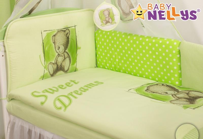 Mantinel 360 cm s obliečkami Sweet Dreams by Teddy - zelený