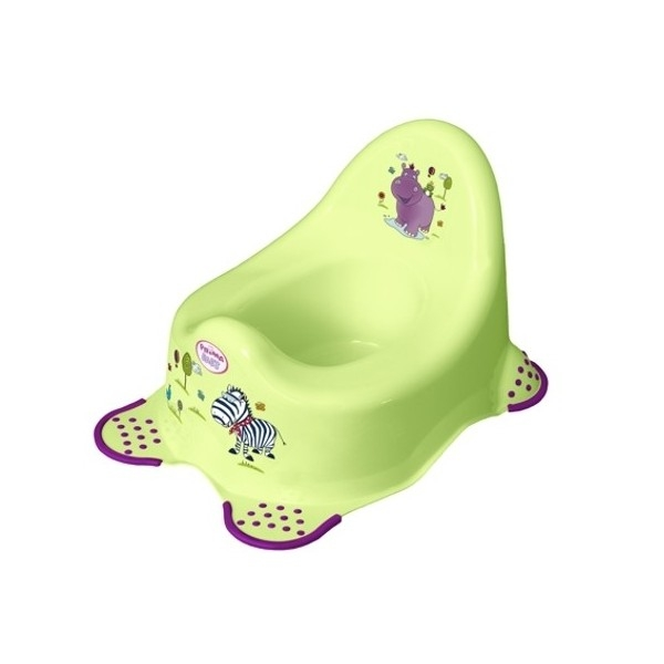 Nočník TEGA BABY - HIPPO zelené, s labkami
