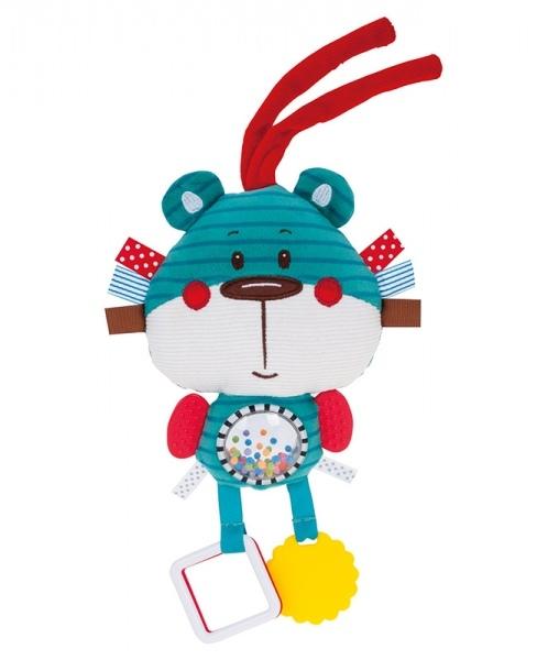 Plyšová edukačná hračka na zaväzovanie Forest Friends - medvedík