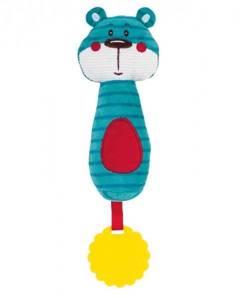 Plyšová hračka s hryzátkom a pískátkem Forest Friends - medvedík
