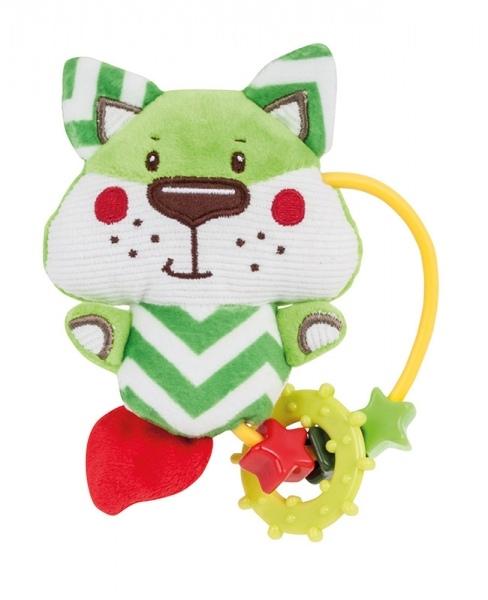 Plyšová hračka s hryzátkom a hrkálky Forest Friends - líška