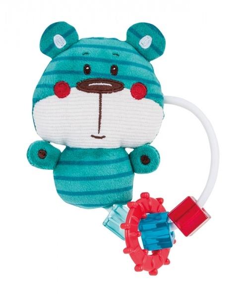 Plyšová hračka s hryzátkom a hrkálky Forest Friends - medvedík