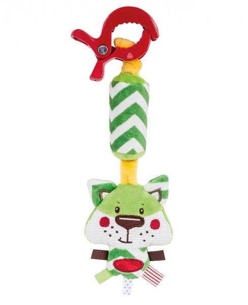Plyšová hračka so zvončekom a klipom Forest Friends - líška
