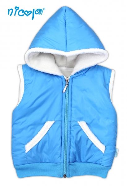 Jesenná / zimná vesta NICOL LITTLE DOG - modrá-98 (24-36m)
