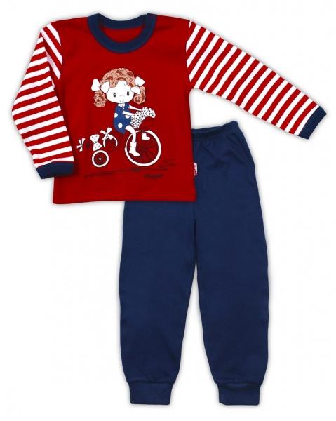 Bavlnené pyžamo NICOL MALÁ - Dievčatko v červenom, 80 (9-12m)