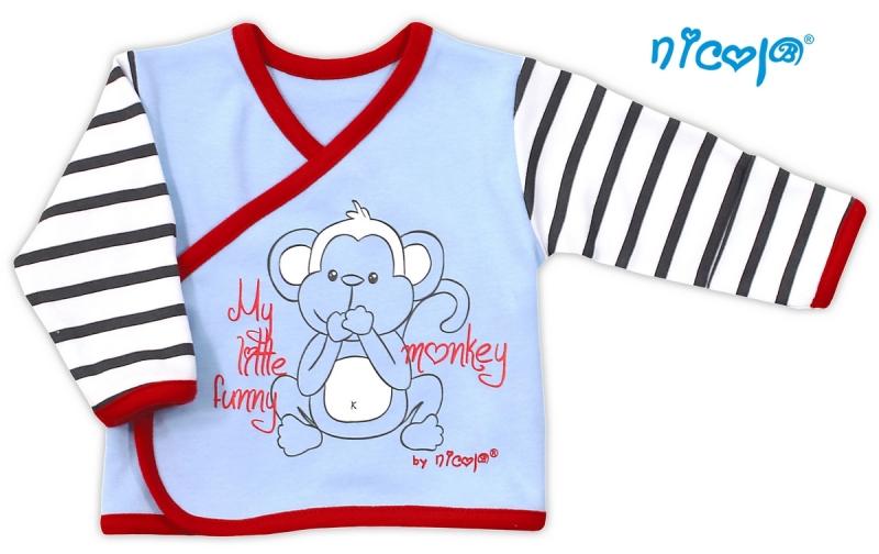 Bavlnená košieľka Nicol Monkey - sv. modrá