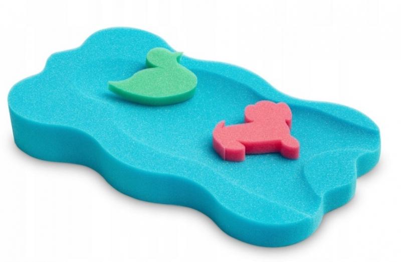 Badum Matračku - huba na kúpanie bábätiek MAXI - Modrá, zelená