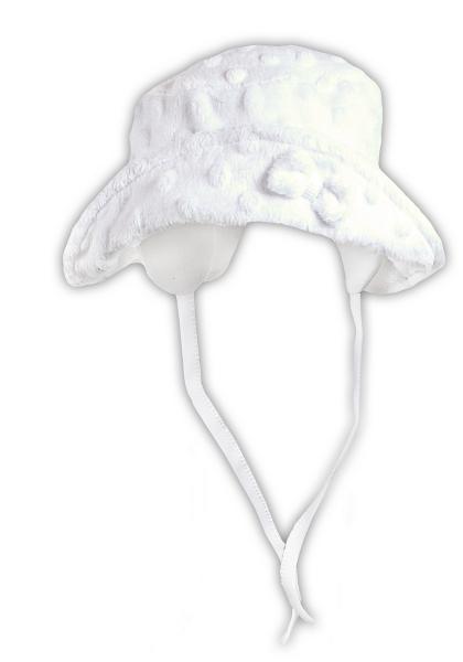 Jarná / letná klobúčik NICOL ELEGANT BABY GIRL - na zaväzovanie, veľ. 56