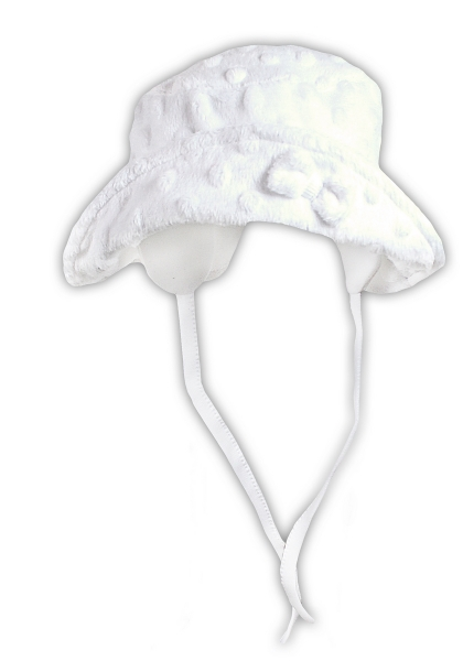 Jarná / letná klobúčik NICOL ELEGANT BABY GIRL - na zaväzovanie