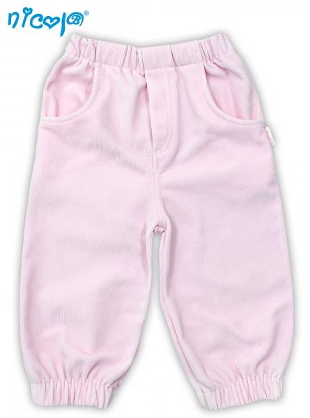 Menčestrové nohavice NICOL LOVELY PONY - ružové