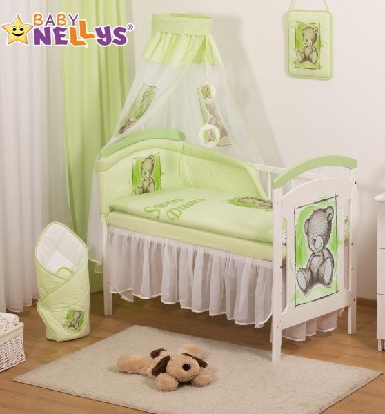 Baby Nellys Sifónové nebesia Sweet Dreams by TEDDY - zelené/biele