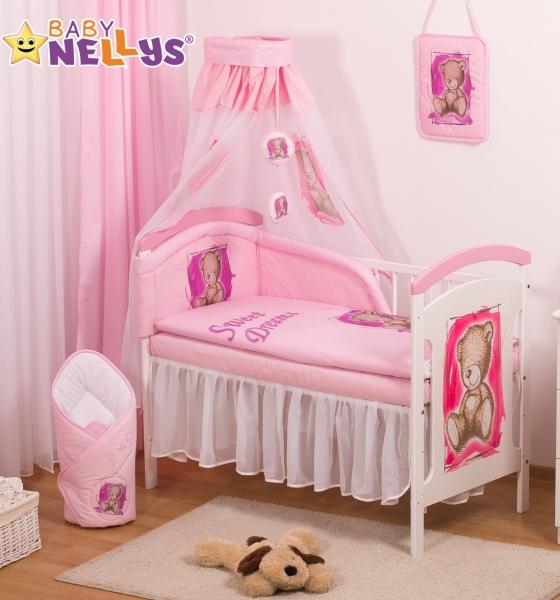 Baby Nellys Sifónové nebesia Sweet Dreams by TEDDY - růžové/biele