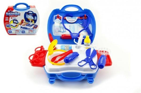 Teddies Doktorské sada plast 20ks doplnky na batérie 3ks so zvukom so svetlom v kufríku