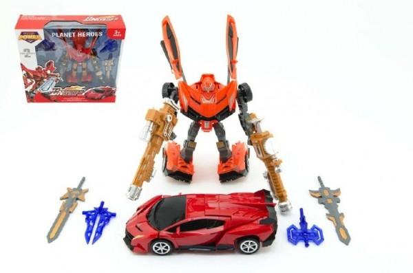 Transformer robot / auto 25cm 2 farby v krabici 34x33x10cm