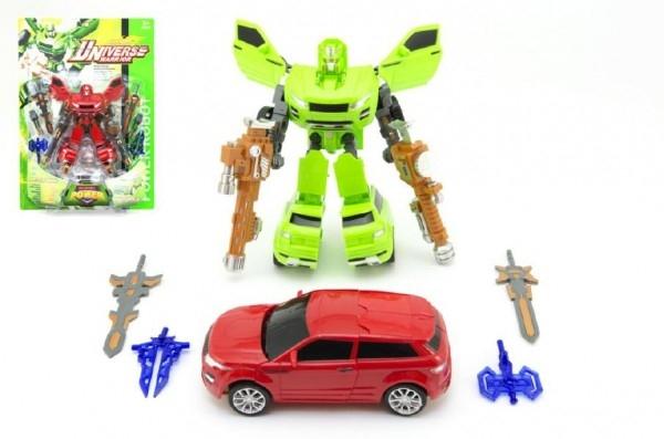 Teddies Transformer auto / robot 23cm 2 farby na karte