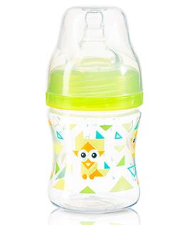 Antikoliková fľaštička so širokým hrdlom Baby Ono - zelená