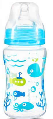 BabyOno Antikoliková fľaštička so širokým hrdlom Baby Ono - modrá