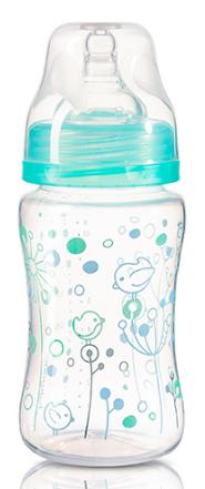 BabyOno Antikoliková fľaštička so širokým hrdlom Baby Ono - tyrkysová