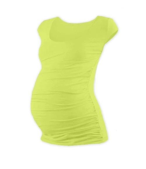 Tehotenské tričko mini rukáv Johanka - sv. zelená