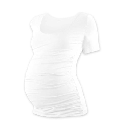 JOŽÁNEK Tehotenské tričko krátky rukáv Johanka - biela