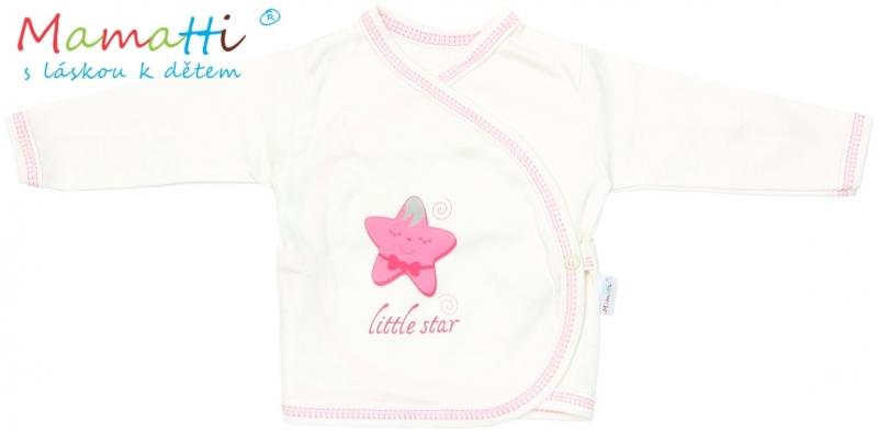Novorodenecká košieľka Mamatti - STAR - smotanová/hvezdička, 62 (2-3m)