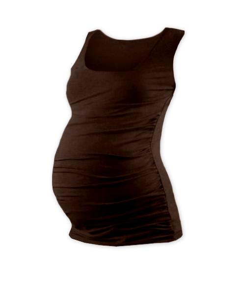 Tehotenský top JOHANKA - čokohnedá