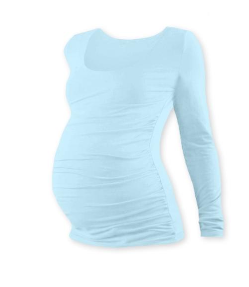 JOŽÁNEK Tehotenské tričko JOHANKA s dlhým rukávom - sv. modrá