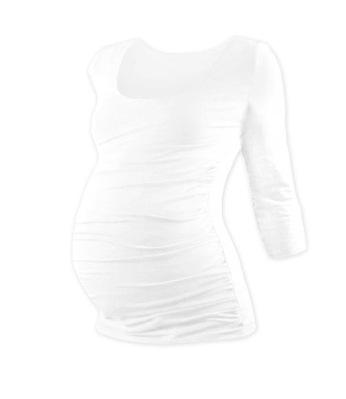 Tehotenské tričko 3/4 rukáv JOHANKA - biela