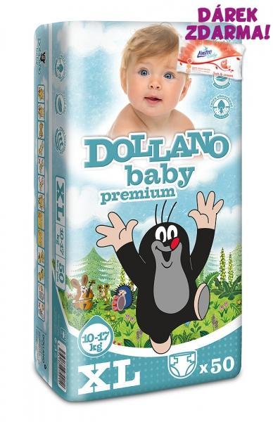 Dollano Baby CZ Jednorazové plienky Krtko Premium XL - 50ks