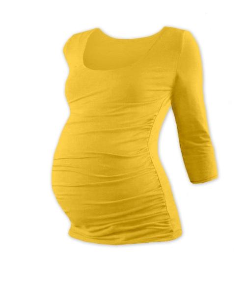 Tehotenské tričko 3/4 rukáv JOHANKA - žlutooranžová