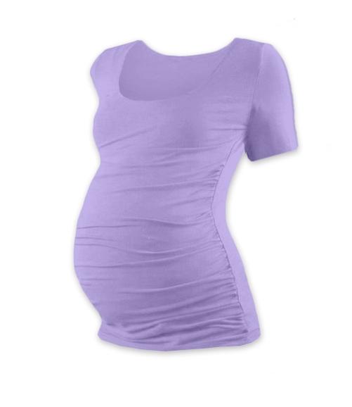 Tehotenské tričko krátky rukáv JOHANKA - levanduľa