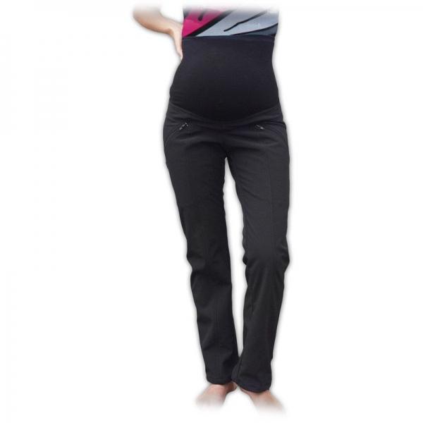 Športové tehotenské zateplené softshellové nohavice veľ. 36