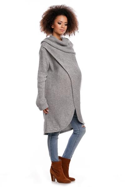 Dlhý sveter JESSIE - svetlo sivý