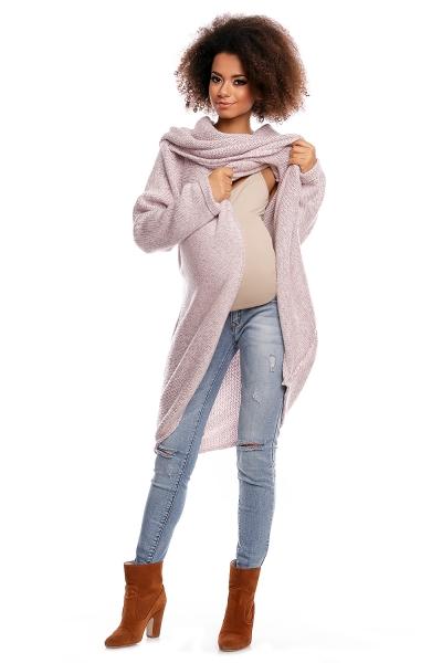 Dlhý sveter JESSIE - svetlo ružová