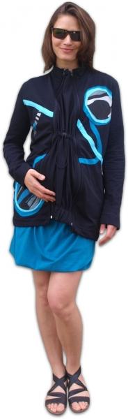 JOŽÁNEK Nosiaci mikina - pre nosenie dieťaťa vpredu aj vzadu na tele - tyrkysová aplikácie