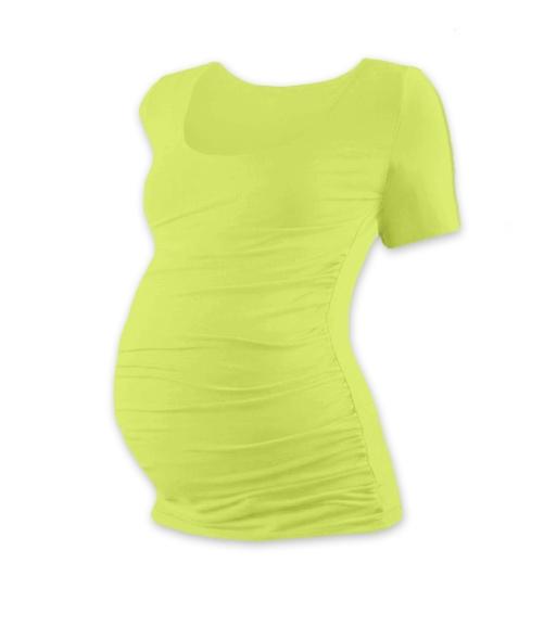 JOŽÁNEK Tehotenské tričko krátky rukáv JOHANKA - svetlo zelená
