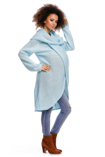Dlhý sveter JESSIE - svetlo modrý