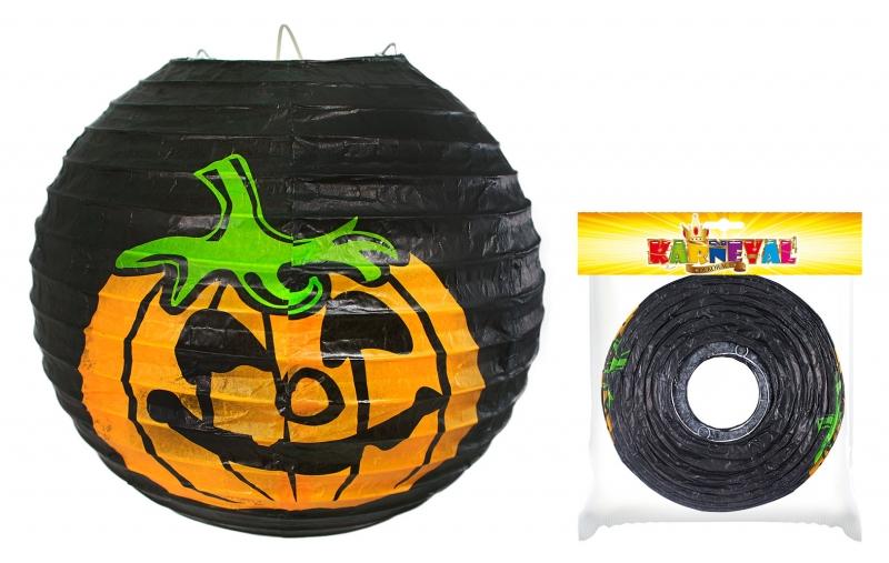 Rappa Lampión s tekvicou Halloween vystužený, 25cm