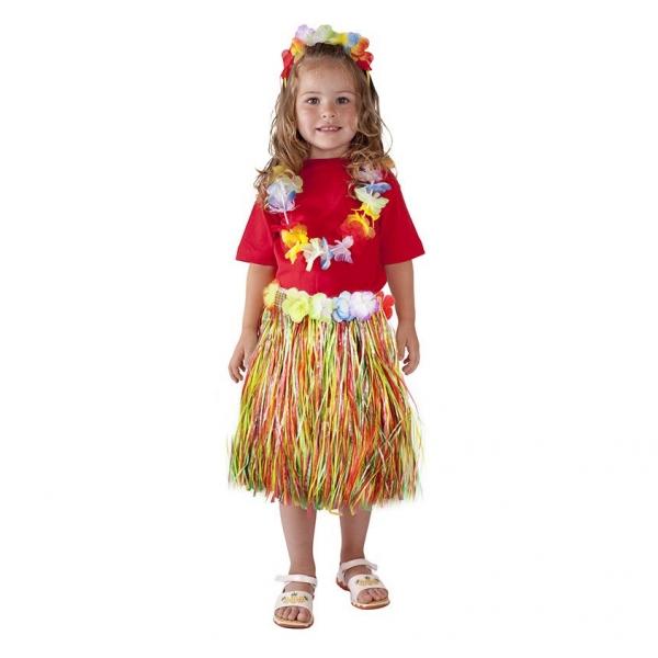 Rappa Sukne Hawaii detská, farebná, 45 cm